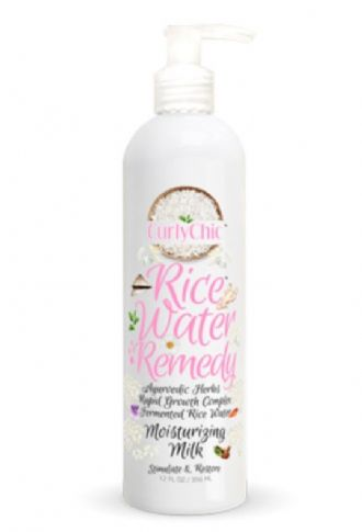 curly chic Rice Water Remedy moisturising milk available to buy at love afro cosmetics - we stock all of the rice water curly chic products
